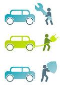 現代の車の記号のコレクション — ストックベクタ