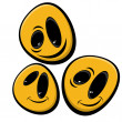 Funny smiley faces — Stock Vector