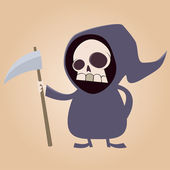 Cute grim reaper — Stock Vector