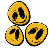 Funny smiley faces — Stockvector