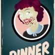 Zombie housewife — Stock Vector #20120603