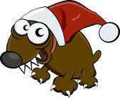 Christmas dog — Stock Vector