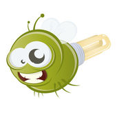 Funny cartoon firefly — Stock Vector