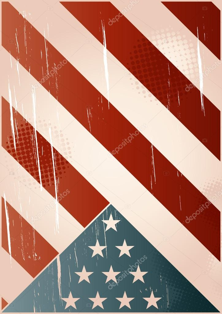 Vintage stars and stripes background — Stock Vector ...