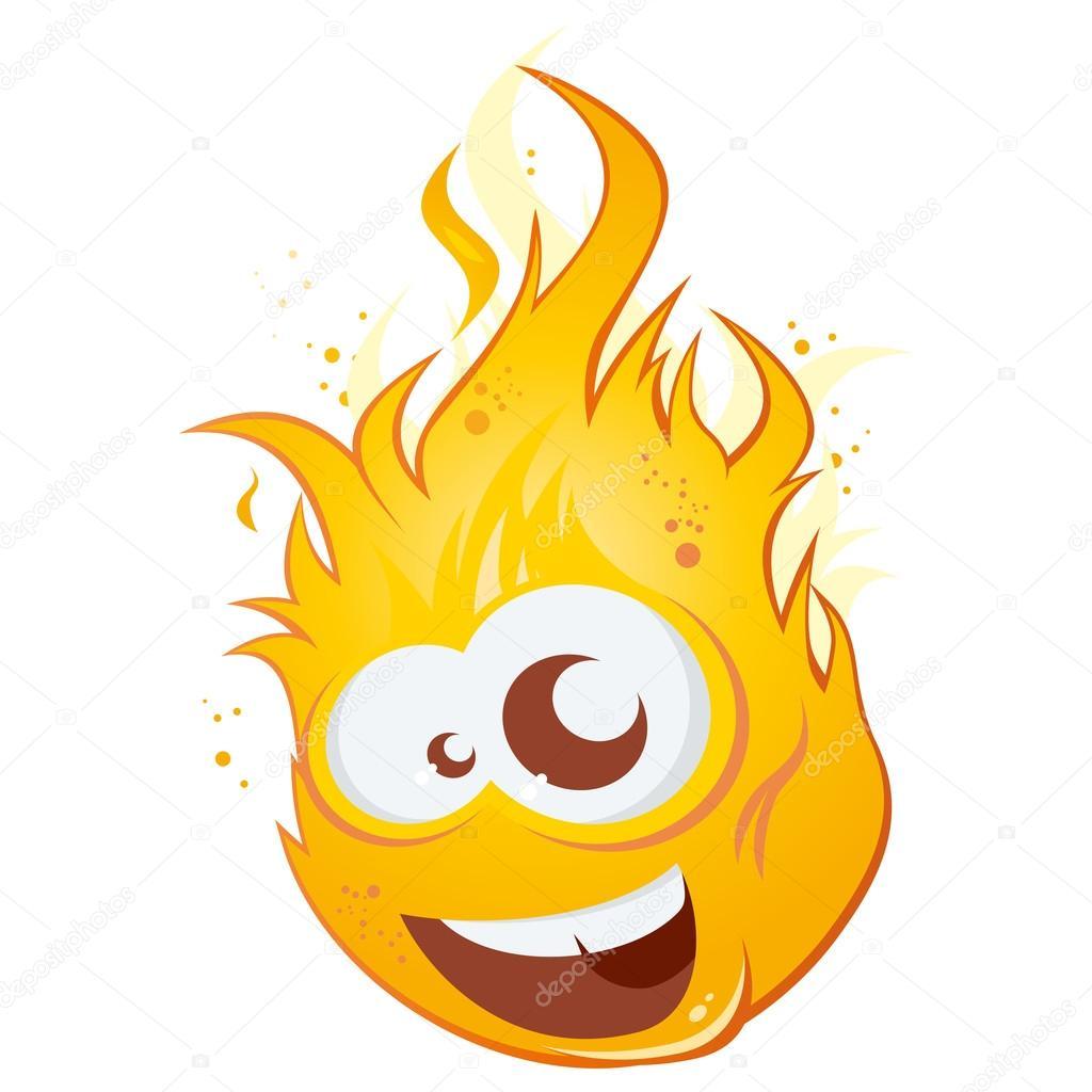 Depositphotos Funny Cartoon Flame