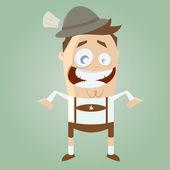 Śmieszne kreskówka mężczyzna bawarski — Wektor stockowy