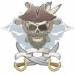 Creepy pirate skull — Vector de stock #36193247