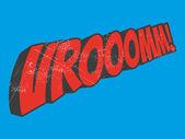 Vroom cartoon sound — Stock Vector