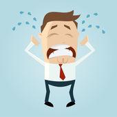 Homem de negócios triste — Vetor de Stock