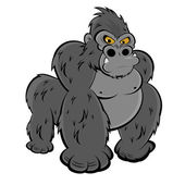 Angry gorilla — Stock Vector