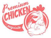 Retro chicken sign — Stock Vector