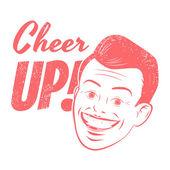 Cheer up head — Stock Vector