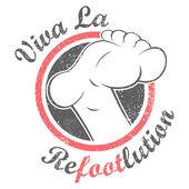 Revolution foot — Stock Vector