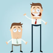 Small and large business cartoon men — Stock Vector