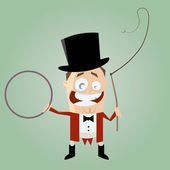 Funny cartoon ringmaster — Stock Vector