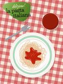 Pasta italiana — Vector de stock