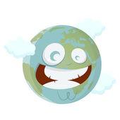 Smiling cartoon earth — Wektor stockowy