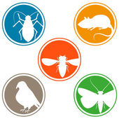 Pest icon collection — Stock Vector