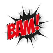 Cartoon explosion bam — Vecteur