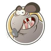 Rolig tecknad råtta — Stockvektor