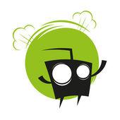 Vtipné kreslené monstrum — Stock vektor