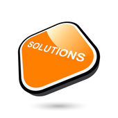 Modern business solutions sign — Stockvector