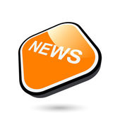 Modern news business sign — Stock Vector