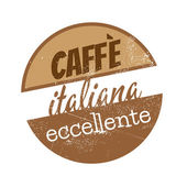 Vintage sign which means excellent italian coffee — Stock Vector