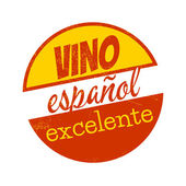 Vintage sign which means excellent spain wine — Stock Vector