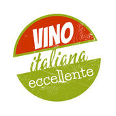 Vintage sign which means excellent italian wine — Stock Vector