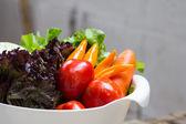 Ekologiska grönsaker. — Stockfoto