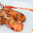Stock Photo: Grilled shrimp