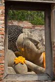 Reclining of buddha — Stock Photo