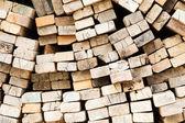 Pile of wood. — Stockfoto