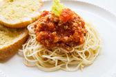 Spaghetti with tomato sauce — Fotografia Stock