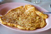 Plain egg omelette — Stock Photo