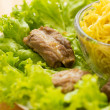 Noodles pork with lettuce — Stock Photo #28706229