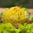 Noodles pork with lettuce — Stock Photo #28706257