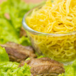 Noodles pork with lettuce — Stock Photo #28706369