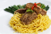 Noodles pork — Stock Photo