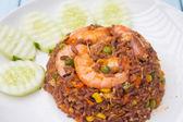 Garnalen gebakken rijst — Stockfoto