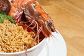 Soupe de nouilles aux crevettes — Photo