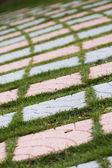 Stenen gångväg — Stockfoto