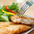 Fried fish and salad — Stock Photo #30033681