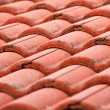 Red tiles roof, architecture background. — Stock Photo