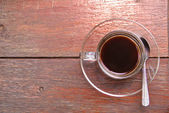 Black coffee on the table. — Stock Photo