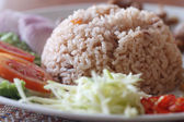 Fry rice with the shrimp paste — Stock Photo