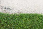 Green grass and sand on the golf course — Stock Photo