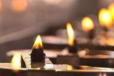 горящая свеча — Стоковое фото