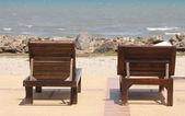 沙滩椅. — 图库照片